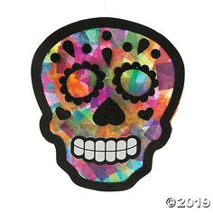 october crafts for kids Celebrate the Day of the Dead with this fun craft kit for kids! This craft turns into Day of the Dead decorations you can carry through Halloween. Sugar Skull Crafts, Sugar Skull Art, Sugar Skulls, Halloween Arts And Crafts, Fall Halloween, Halloween Crafts Kindergarten, Halloween Crafts For Toddlers, Halloween 2019, Halloween Stuff