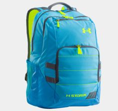 UA Camden Storm Backpack | 1256955 | Under Armour US (High school boys! I love the turquoise and neon yellow color! Perfect for those boys that love to be bold!)