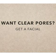 Regular facials help maintain clear pores! Book your appointment now
