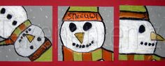 sneeuwpop close up Art School, Snoopy, Kids Rugs, Seasons, Drawings, Crafts, Fictional Characters, December, Winter Art