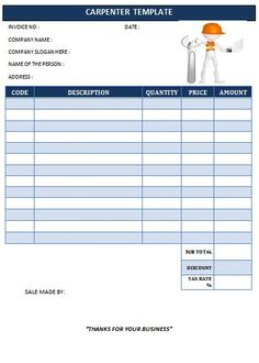 CARPENTER INVOICE TEMPLATE-20