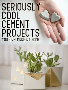 22 Seriously Cool Cement Projects You Can Make At Home - I've always wanted to work with cement! Time to take the plunge and do it!