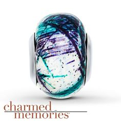 Charmed Memories Murano Glass Sterling Silver Charm