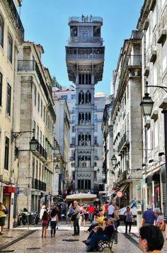 Ascensor de Santa Justa en Lisboa