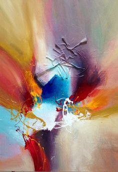 Summertime - Dan Bunea - Large living abstract paintings