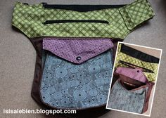 Y si sale bien...: Riñoneras para todos/as: Tutorial de Para mi peque con amor Sewing Clothes, Custom Clothes, Belt Purse, Hip Bag, Quilted Bag, Fabric Bags, Sewing Accessories, Little Bag, Sewing Projects For Beginners