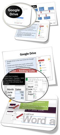 •	Google Drive is the new home for Google Docs.   •	These lessons contains screen shots, activities, marking schemes, tips and instructions for using Documents, Presentations and Spreadsheets within Google Drive.