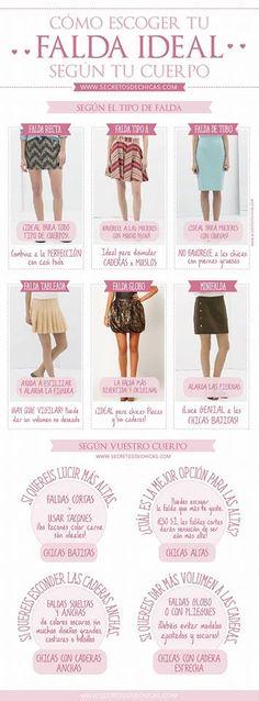 Faldas para cada tipo de cuerpo...