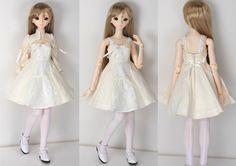 47cm Misha princess dress & bolero set / Misha hand-painted D-head /  47cm Parabo body white skin /  8inch straight wig (PW60-02-NB) /  16mm Realistic eyes cobalt (EYREBCB-16) / dress set, underwear, socks, shoes(SH-PB104-WH)
