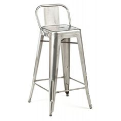 Low Back Stool — Short, sweet and to the point: Available in gunmetal, galvanized and powder coated finishes, our Low Back Stools are crafted of grade A steel and precision welded to ensure decades of durability.