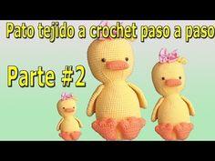 Pato a crochet - ganchillo - peluche a crochet - parte / Crochet duck - easy weaving part # 2 Top Videos, View Video, Crochet Blouse, Crochet Flowers, Winnie The Pooh, Lana, Crochet Patterns, Weaving, Crochet Hats