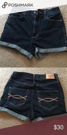 Abercrombie and fitch jean shorts Abercrombie and fitch high waisted jean shorts. Hardly worn Abercrombie & Fitch Shorts Jean Shorts