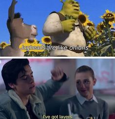 Riverdale - my mind actually went to Shrek when he said that! Lol