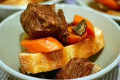 braised beef short ribs  (Kosher, so skipped the bacon)