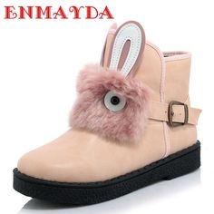 69.50$  Watch now - http://alifzr.worldwells.pw/go.php?t=32740114046 - ENMAYDA New Autumn/Winter Platform Ankle Boots Slip-on Fashion Warm Buckle Women Boots Cute Short Boots Big Size 34-45 Winter 69.50$