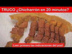 ¿Cómo preparar chicharrón? TRUCO: Prepáralo en 20 minutos - YouTube