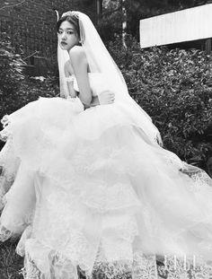 Choi Jun Young, for Elle Korea Sept 2015 Bridal Poses, Bridal Shoot, Wedding Poses, Wedding Dresses, Pre Wedding Photoshoot, Wedding Photo Inspiration, Wedding Story, Romantic Weddings, Wedding Styles