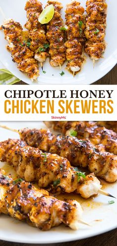 With a blend of enticing flavors and clean-eating ingredients, our Chipotle Honey Chicken Skewers are everything you're looking for in a backyard-friendly, summer grilling dish! The post Chipotle Honey Chicken Skewers appeared first on Diet. Healthy Dinner Recipes For Weight Loss, Healthy Recipes, Lunch Recipes, Healthy Breakfasts, Healthy Dishes, Summer Grill Recipes, Best Dinner Recipes Ever, Best Healthy Dinner Recipes, Healthy Dinner Options