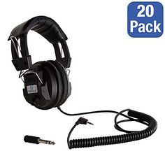Pack of 20 Switchable Stereo/Mono Headphones