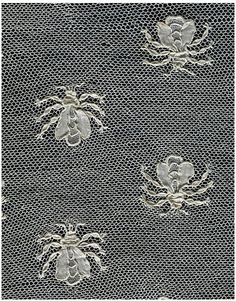 Fichu (a covering for the neck and shoulders), ca. 1805-1810, made in Alençon, Needle lace, V