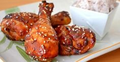 Sticky Asian Drumsticks - oh so good! Drumsticks are often on sale! Sticky Chicken, Asian Chicken, Honey Chicken, Chicken Legs, Chicken Brine, Hoisin Chicken, Crispy Chicken, Drumstick Recipes, Chicken Drumsticks