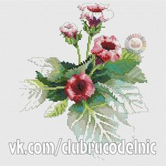 VK is the largest European social network with more than 100 million active users. Cross Stitch Flowers, Counted Cross Stitch Patterns, Beautiful Flowers, Needlework, Photo Wall, Embroidery, Crafts, Handmade, Wall Photos