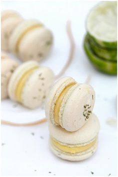 zesty lime macarons. Mum will love these!