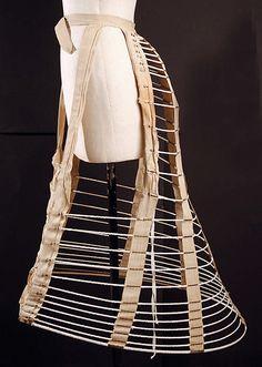 Hoop skirt, 1876-1879; MMA C.I.41.42.4