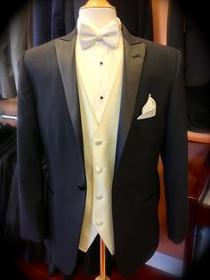"Looking for the perfect tux for your wedding?  Come check out the ""Black Portofino by Savvi Evening"".  #tuxedo #wedding #groom #quinceañera #RussoTux"
