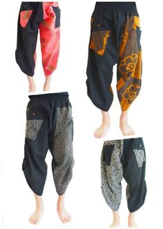 Fisherman Pants, Samurai - Ninja Style, Unisex, Multi Design, One Size - Regular #ThailandHandmade #CasualNinjaPants