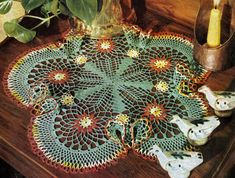 Floral Temptation Doily crochet pattern from Newest in Floral Doilies, Book No. from Many more flowered doily patterns Crochet Books, Crochet Home, Thread Crochet, Crochet Motif, Crochet Doilies, Crochet Flowers, Free Crochet, Simply Crochet, Crochet Things