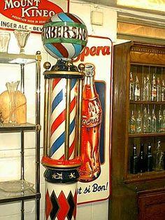 Resultado de imagen para antiques poles barbers