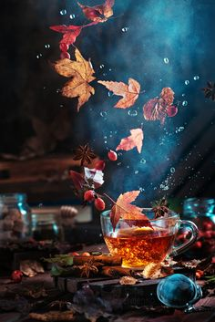 ~~Briar tea with autumn swirl | food photography styling | by Dina Belenko~~