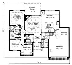 Houseplans.com Bungalow / Craftsman Main Floor Plan Plan #46-511