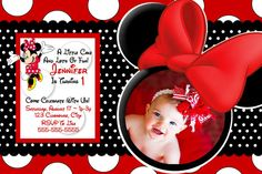 HUGE SELECTION Minnie Mouse Invitation by ThePrintShoppeOnEtsy, $7.00