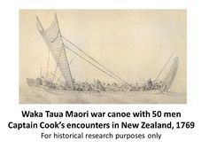"""Maori Waka Taua, 1769 """"Maori """"Waka #Canoe"""