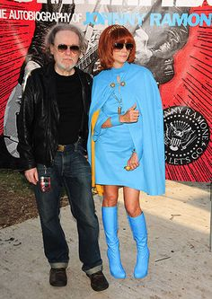 Tommy Ramone with Johnny Ramone's wife Linda at the 8th Annual Johnny Ramone Tribute in Los Angeles, 2012 Sipa USA/REX