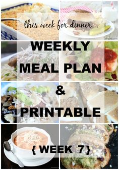 Weekly Meal Plan No. 7 | Weekly Meal Plan from your favorite bloggers! They do all the planning for you. Even give you a shopping list you can fill in with what you need! } www.thirtyhandmadedays.com