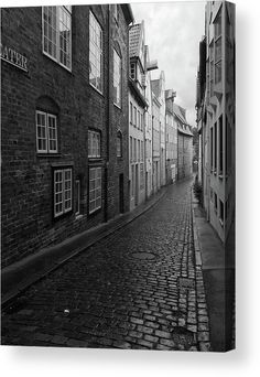 Luebeck Rainy Summer Acrylic Print by Marina Usmanskaya for home decor. All acrylic prints are professionally printed, packaged, and shipped within 3 - 4 business days and delivered ready-to-hang on your wall. Choose from multiple sizes and mounting options. A rainy summer in the north of Germany does not diminish the charm of the ancient Hanseatic citx of Luebeck.