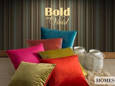 Let your #Home speak the language of colours. Explore more collections on www.homesfurnishings.com #HomeDecor #HomeFabrics #Cushions #Furnishings #HomesFurnishings
