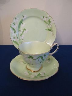 Royal Albert Crown China Trio - Laurentian Snowdrop - 2234 #TrioCupSaucerPlate