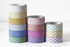 Washi Glitter Tape (Mini 5m) $2.50
