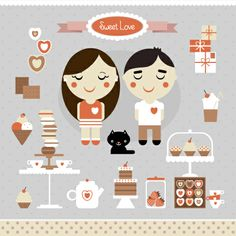 Sweets and treats - icons #macaroons