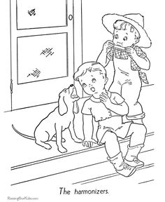 Free printable animal coloring pages of dogs