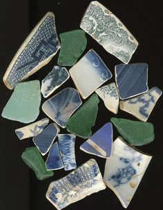 Sea glass and pottery shards found on East Coast beaches