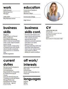 It used to be that job candidates were judged on their resume, cover letter and references before the in-person interview. But now with social media, job Modern Resume Template, Business Plan Template, Resume Templates, Cv Template, Templates Free, Resume Tips, Resume Examples, Free Resume, Resume Ideas