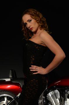 https://flic.kr/p/npX4bE   Model photoshoot   Model: Louise Neale Make Up Artist: Latoya Adlam Dress: Mycre8tion, Bike is Harley Davidson V-Rod Muscle, kindly loaned by Malcom Knapp.