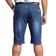 Pantalones Cortos De Mezclilla Para Hombres Talla Grande Bermuda Vaqueros Shorts Casuales Y Cómodos