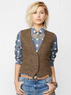 Tweed V-Neck Vest - Denim & Supply  Jackets - RalphLauren.com