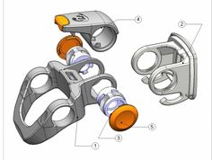 New Looxs exploded view tekening Mechanical Design, Mechanical Engineering, Hard Surface Modeling, Exploded View, Plastic Injection Molding, Plastic Design, Medical Design, Machine Design, Stapler
